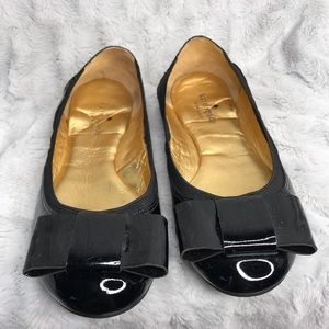 Kate Spade Black Patent Leather Bow Ballet Flats